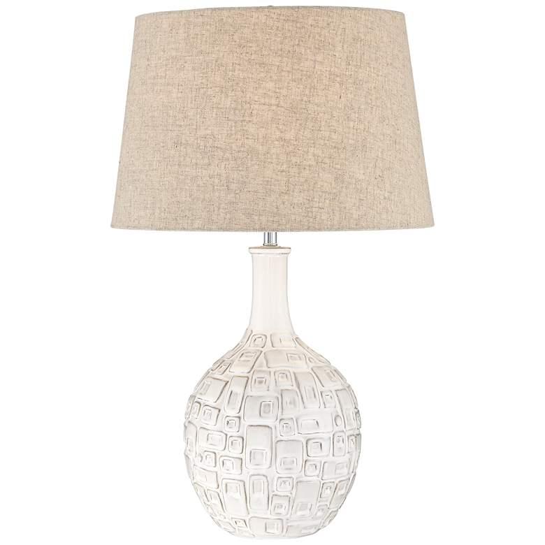 Abby Ivory Ceramic Table Lamp