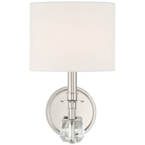 "Crystorama Chimes 10 1/4"" High Polished Nickel Wall Sconce"