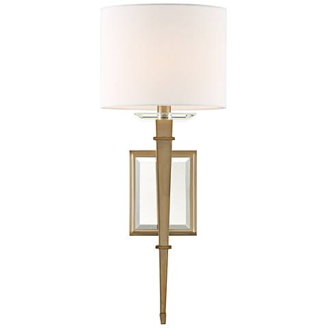 """Crystorama Clifton 20"""" High Aged Brass Wall Sconce"""