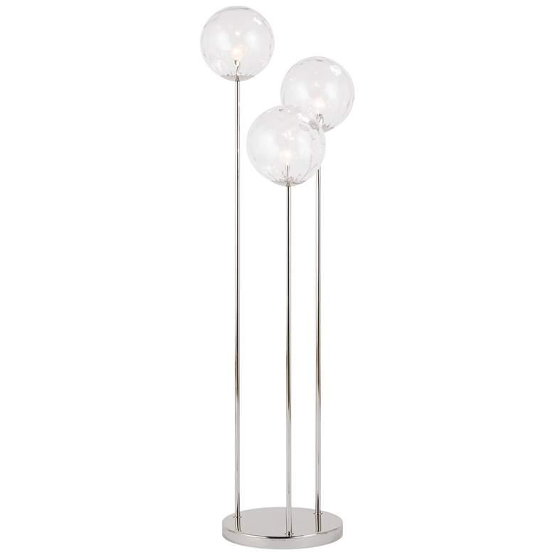Regina Andrew Rio Polished Nickel Triple Floor Lamp