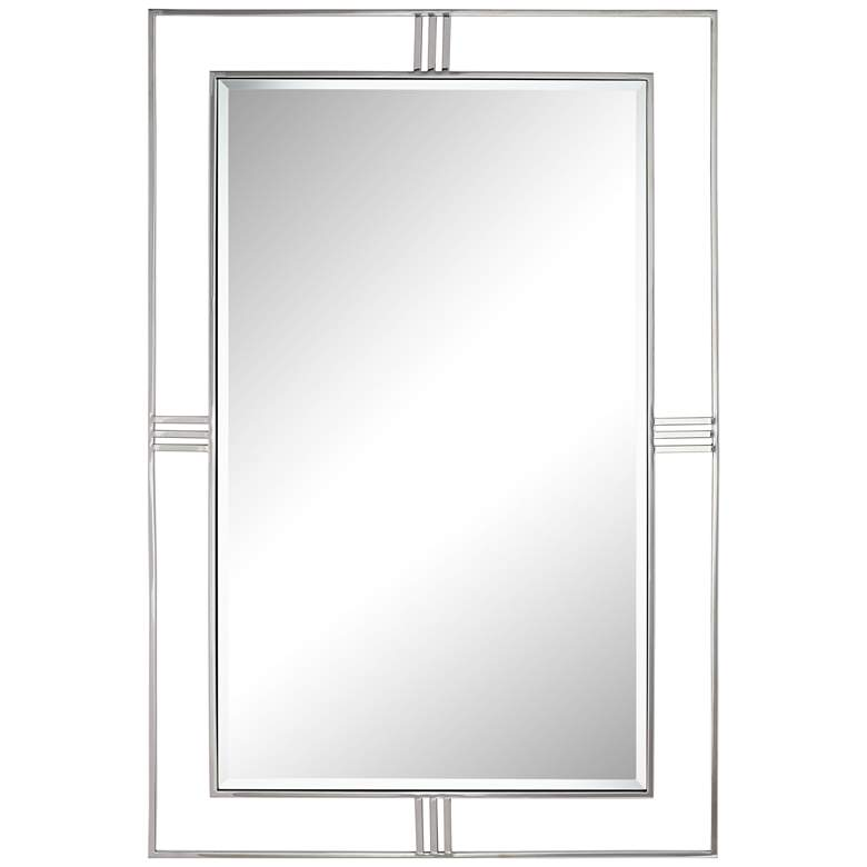 "Cynthia Stainless Steel 31 1/2"" x 47 1/4"" Wall Mirror"