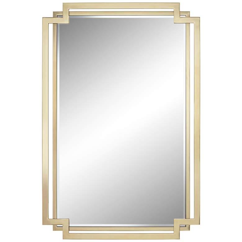 "Possini Euro Carpathia 30 1/2"" x 45 1/4"" Gold Wall Mirror"