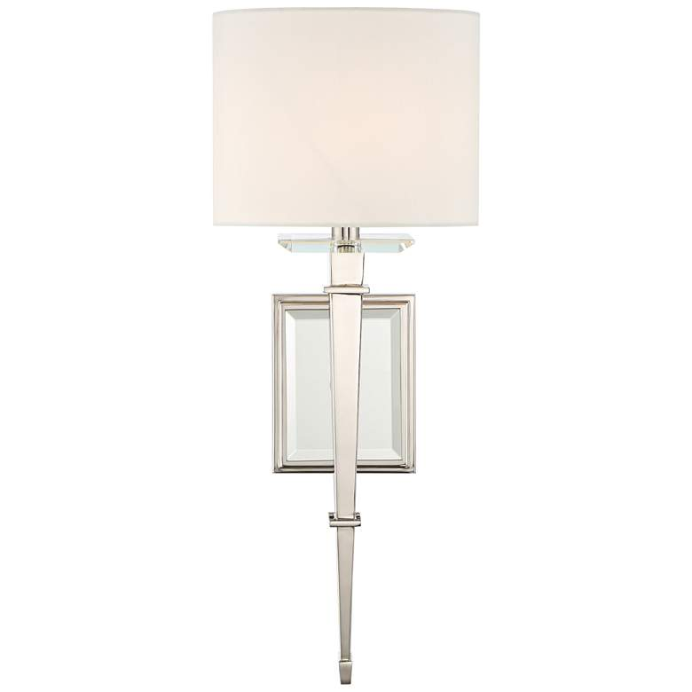 "Crystorama Clifton 20"" High Polished Nickel Wall Sconce"