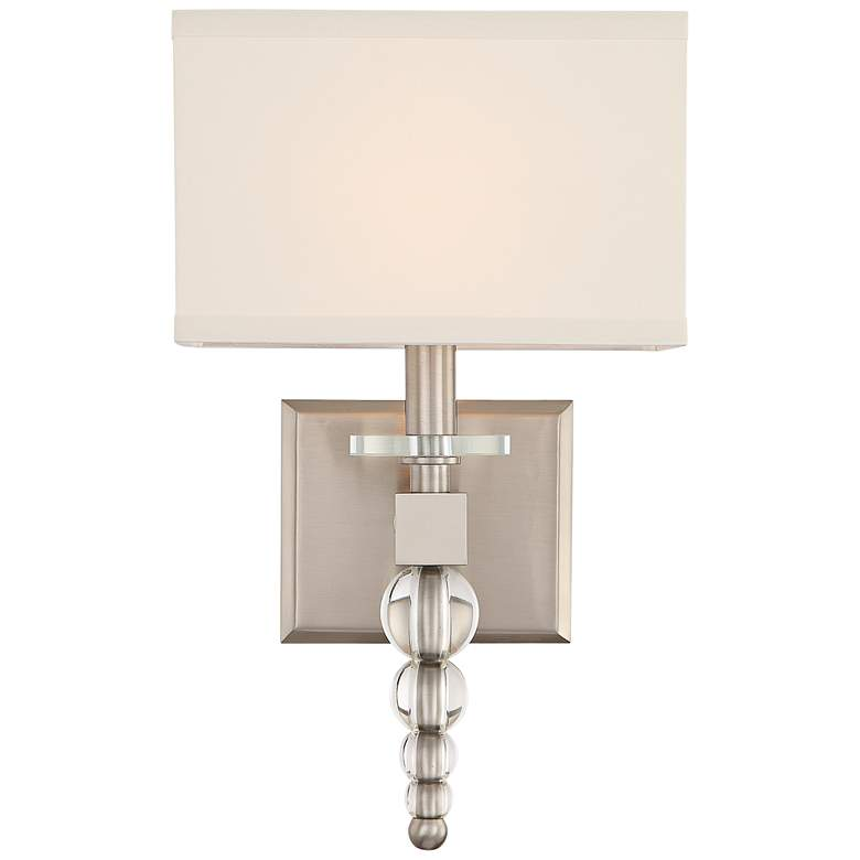 "Crystorama Clover 16"" High Brushed Nickel Wall Sconce"