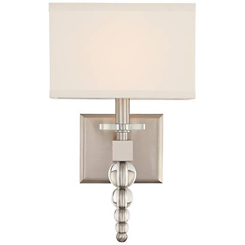 """Crystorama Clover 16"""" High Brushed Nickel Wall Sconce"""