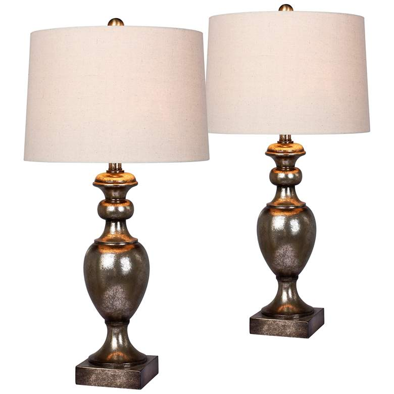 Harper Antique Gold Leaf Textured Urn Table Lamp