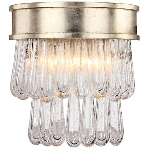 """Crystorama Julien 10 1/4""""H Distressed Twilight Wall Sconce"""