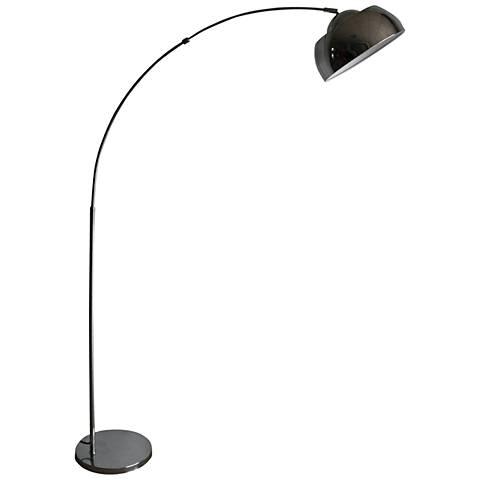 Monroe Chrome Arch Floor Lamp with Swivel Studio Lamp Head