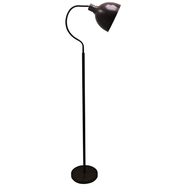 Hadley Oil Rubbed Bronze Arched Neck Metal Floor Lamp