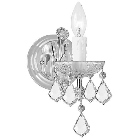 "Crystorama Maria Theresa 9"" High Polished Chrome Wall Sconce"