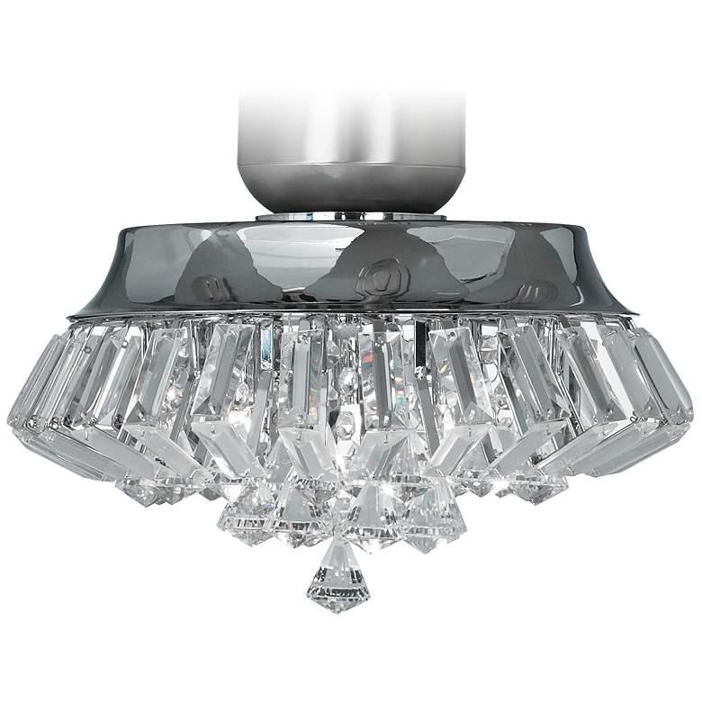 Deco Crystal Chrome Universal Ceiling Fan LED Light Kit