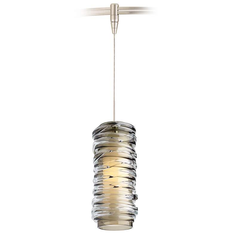 "Leigh 3 1/4"" Wide Smoke Glass LED Monorail Mini Pendant"