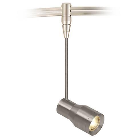 """Ace 2"""" Wide Satin Nickel LED Task Head Monorail Mini Pendant"""