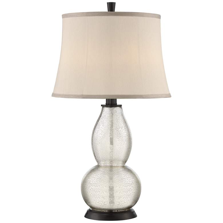 Possini Euro Lionel Mercury Glass Lamp with 3 LED Bulbs