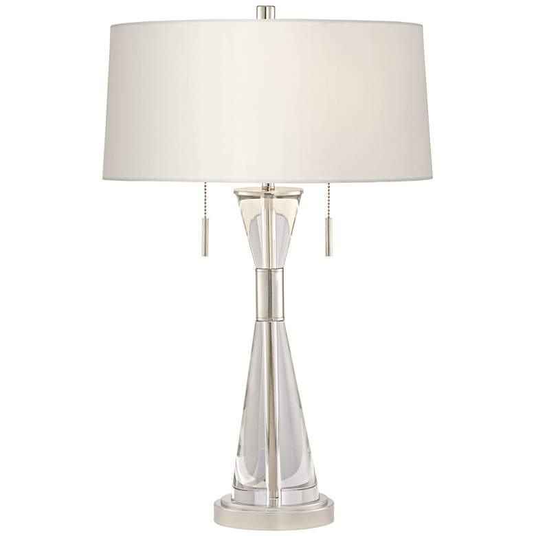Kathy Ireland Crystal Carriage Clear Funnel Table Lamp
