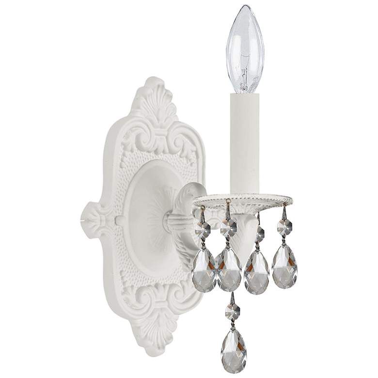 """Crystorama Paris Market 9 1/2"""" High Wet White Wall Sconce"""