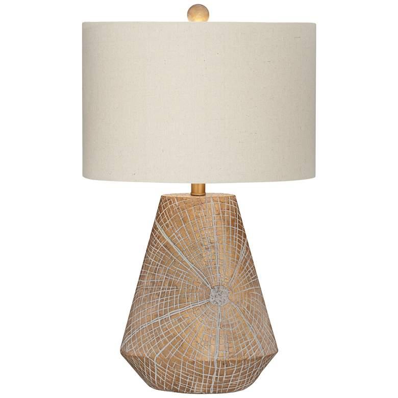 Webler Copper Faux Wood Table Lamp