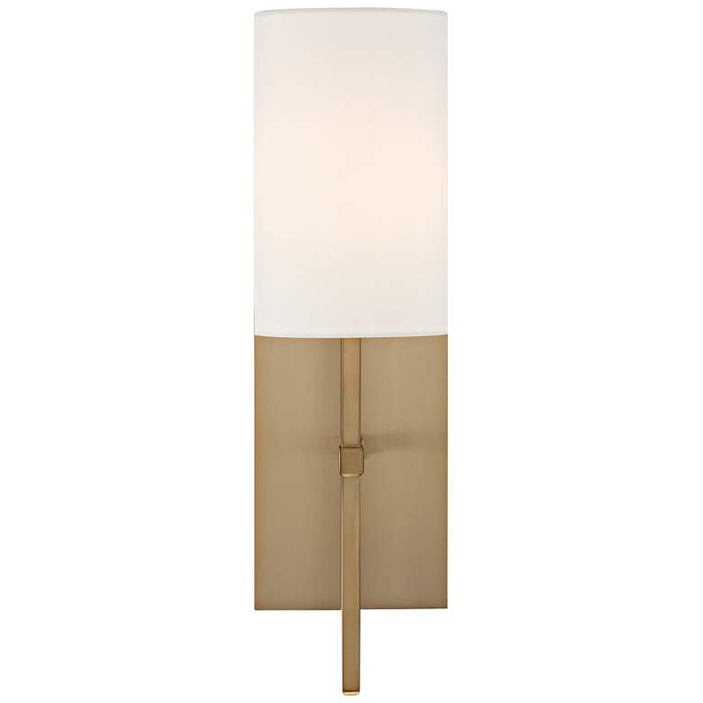 "Crystorama Veronica 16 1/2"" High Aged Brass Wall Sconce"