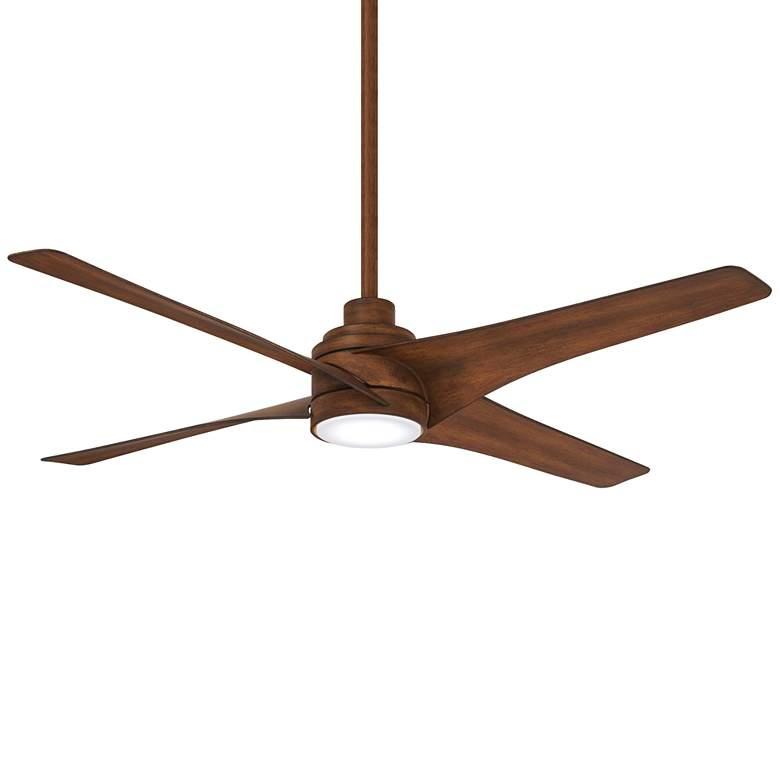 "56"" Minka Aire Swept Distressed Koa LED Ceiling Fan"
