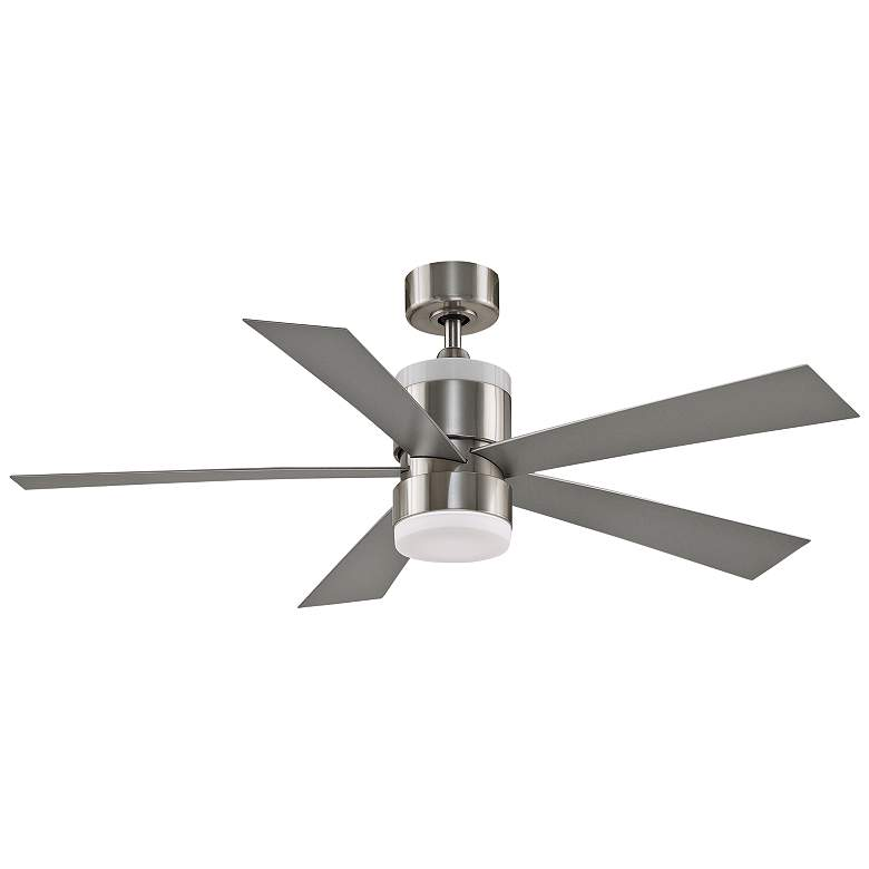 "52"" Fanimation Torch Brushed Nickel LED Ceiling Fan"