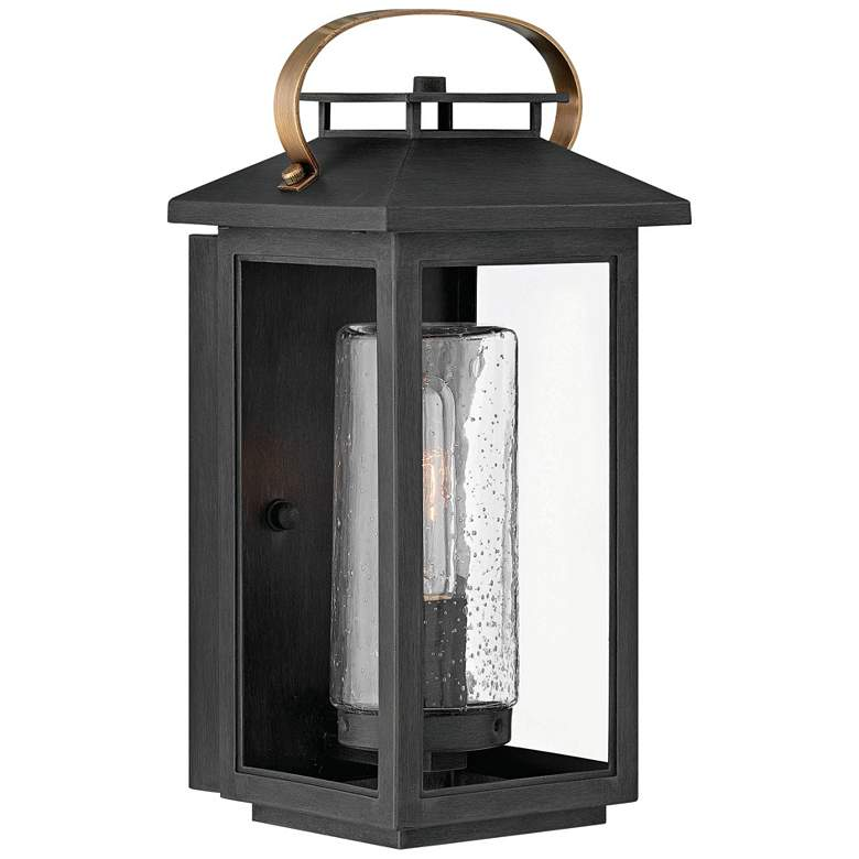 """Hinkley Atwater 14"""" High Black Outdoor Wall Light"""