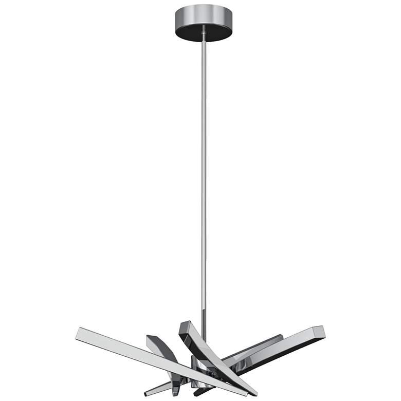 "Craftmade Aura 10 1/2""W Chrome 5-Light LED Mini Chandelier"