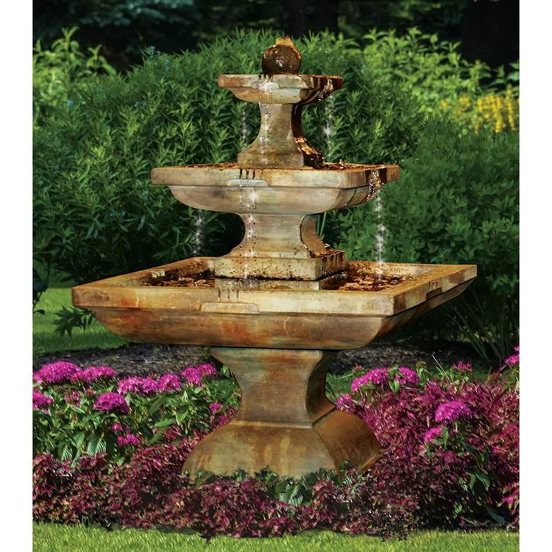 "Henri Studio Equinox 55"" High Large Rustic Outdoor Fountain"
