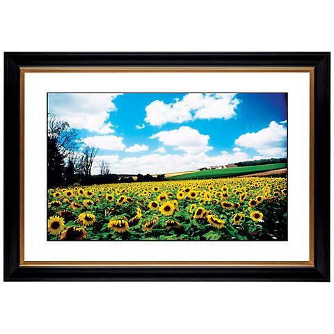 "Sunflower Field Giclee 41 3/8"" Wide Wall Art"