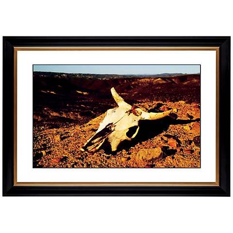 """Desert Skull Giclee 41 3/8"""" Wide Wall Art"""