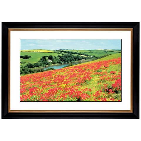 """Poppy Field Giclee 41 3/8"""" Wide Wall Art"""