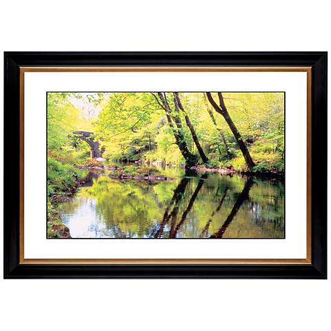 "Tranquil River Giclee 41 3/8"" Wide Wall Art"