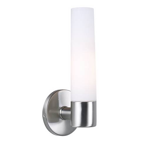 "George Kovacs Brushed Nickel 12 1/2"" High Wall Sconce"