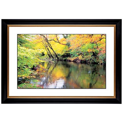 "River Reflections Giclee 41 3/8"" Wide Wall Art"