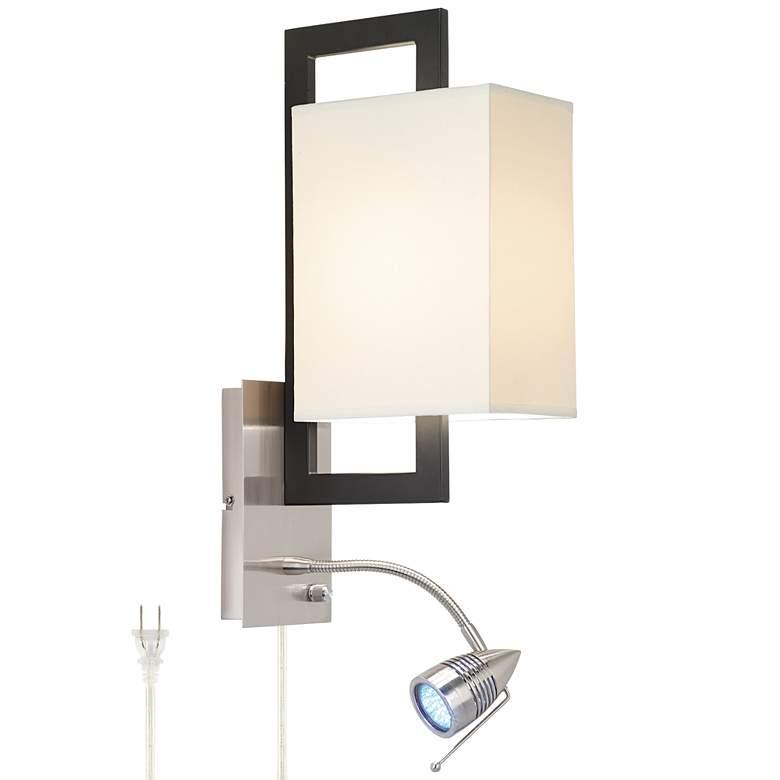 Possini Euro Floating Square LED Plug-In Wall Light