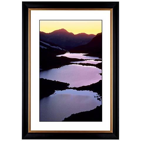 "Mountain Lakes Giclee 41 3/8"" High Wall Art"