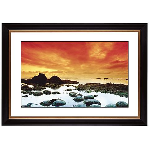 "Sunset Tide Pool Giclee 41 3/8"" Wide Wall Art"