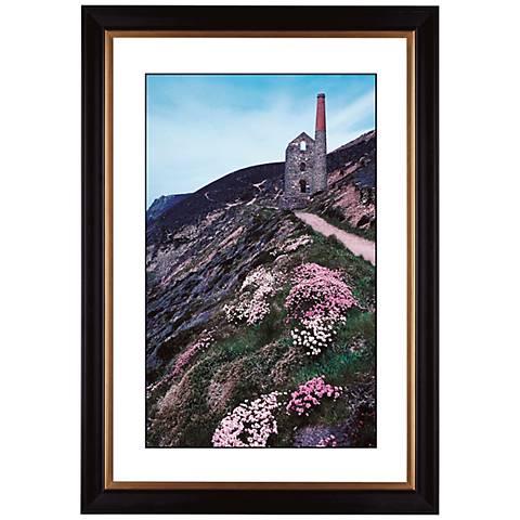 """Cliffside Ruins Giclee 41 3/8"""" High Wall Art"""