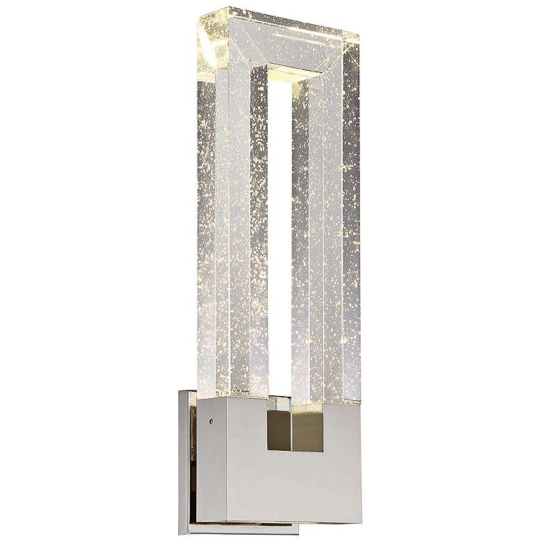 """Chill 18"""" High Polished Nickel LED 2-Light Wall"""