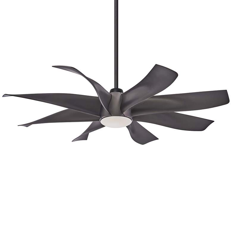 "60"" Minka Aire Dream Star Graphite Steel LED Ceiling Fan"