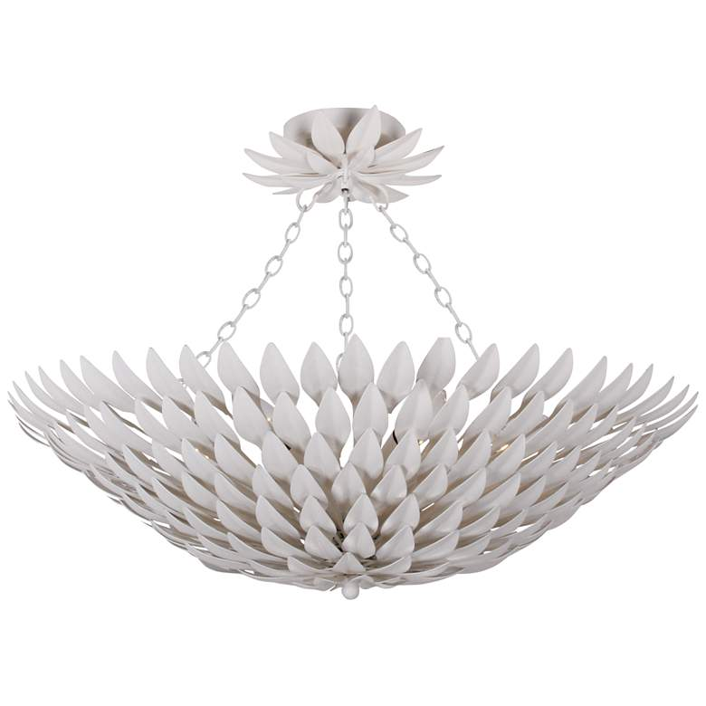 """Crystorama Broche 24 1/2"""" Wide Matte White Ceiling Light"""