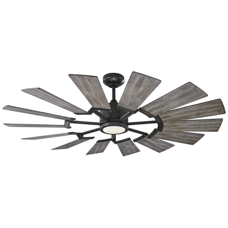 "52"" Monte Carlo Prairie II Aged Pewter LED Ceiling Fan"