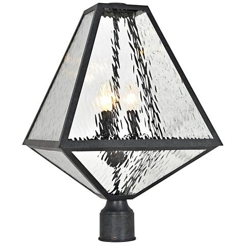 "Glacier 21"" High Matte Black Charcoal Outdoor Post Light"