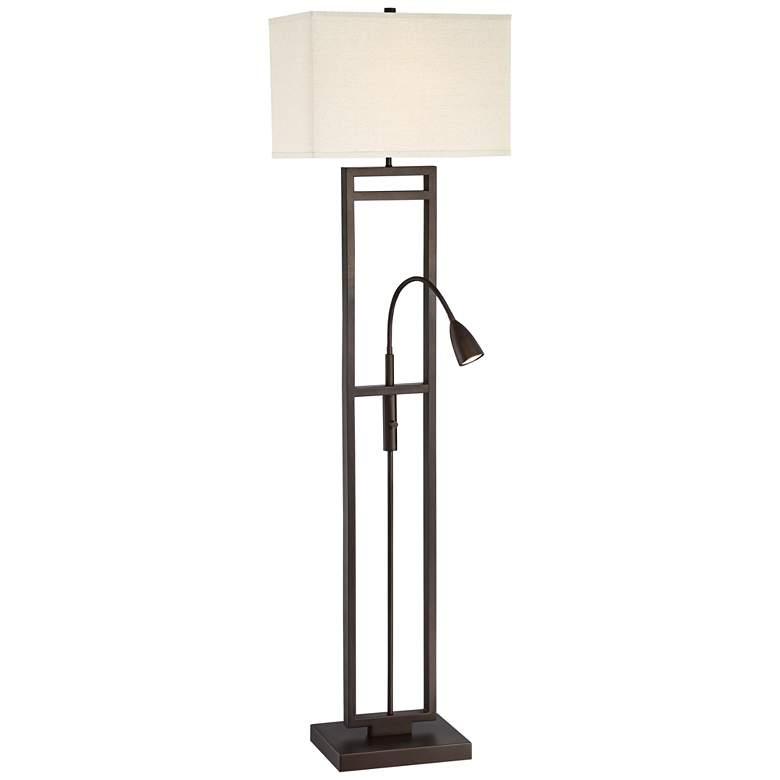 Possini Nevel Floor Lamp with LED Gooseneck Arm