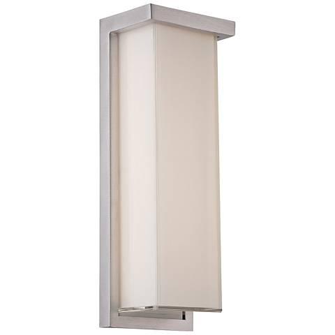 "Ledge 14"" High Brushed Aluminum LED Outdoor Wall Light"