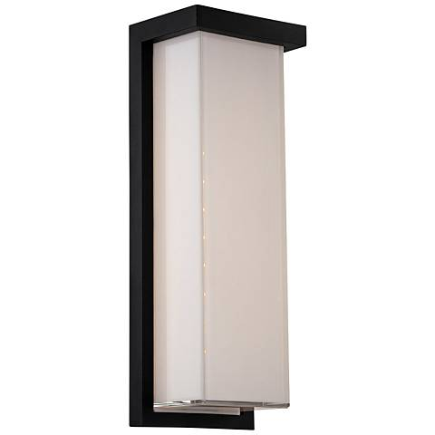 "Modern Forms Ledge 14"" High Black LED Outdoor Wall Light"