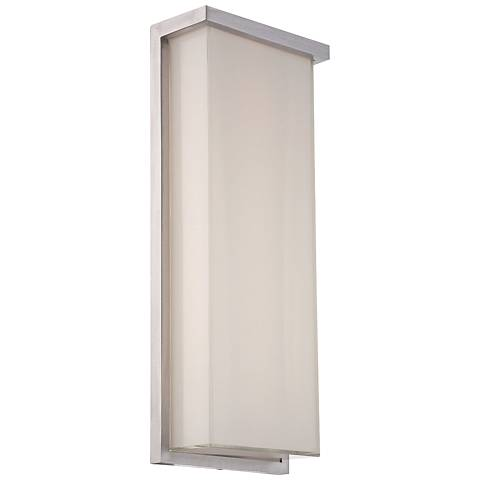 "Ledge 20"" High Brushed Aluminum LED Outdoor Wall Light"