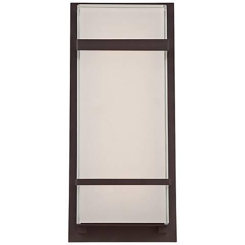 """Modern Forms Phantom 16"""" High Bronze LED Outdoor Wall Light"""
