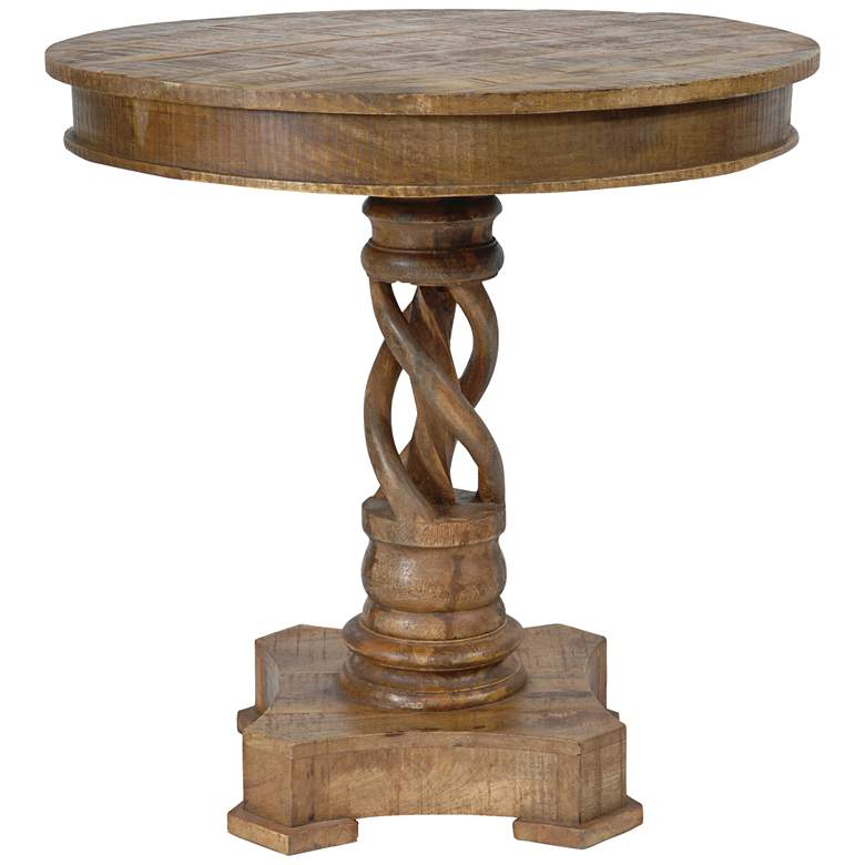 Bengal Manor Natural Mango Wood Twist Accent Table
