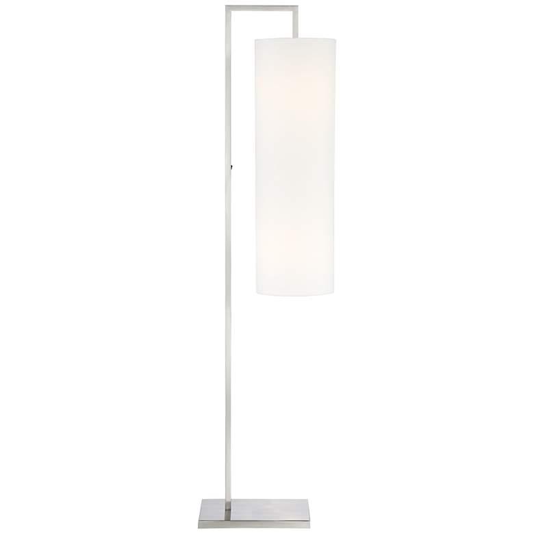 Possini Euro Canaday Brushed Nickel Floor Lamp
