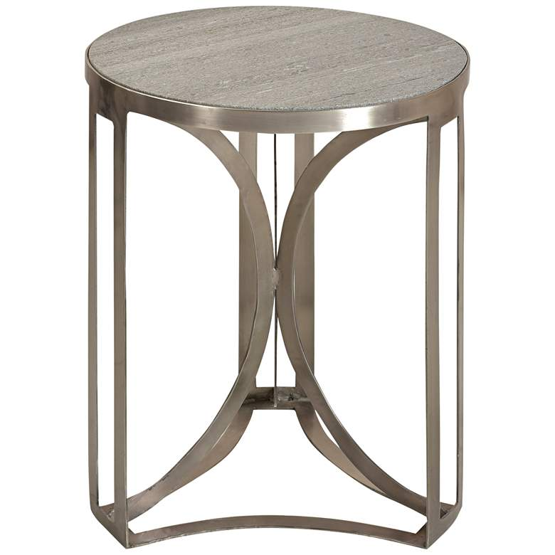 """Bengal Manor 20"""" Wide Marble Top Modern Accent Table"""